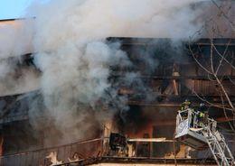В санатории «Стрельна» тушили пожар