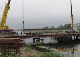 Начался монтаж надводной части моста через Ижорский пруд