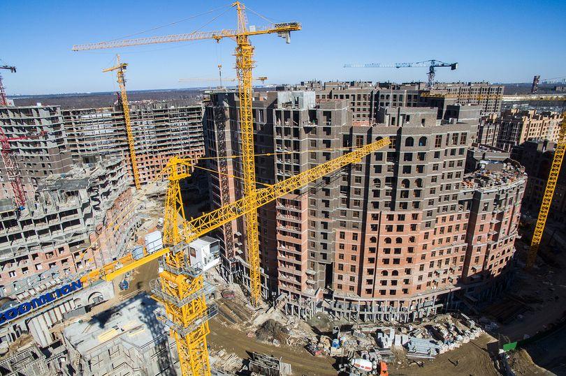 Стройплощадка в Москве