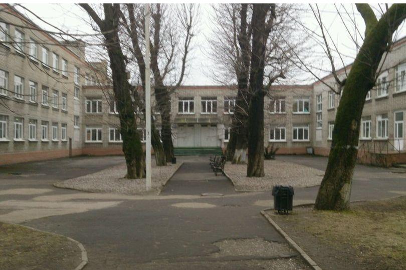 школа, двор