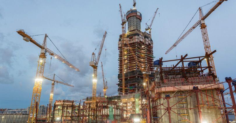 Строительство «Лахта центра»