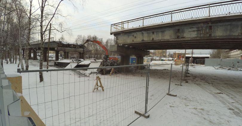 «Арасар» демонтирует путепровод в Петрозаводске