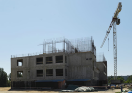 Строительство здания детского сада