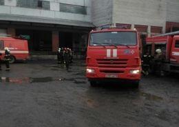 На «Парнасе» горел мясоперерабатывающий завод