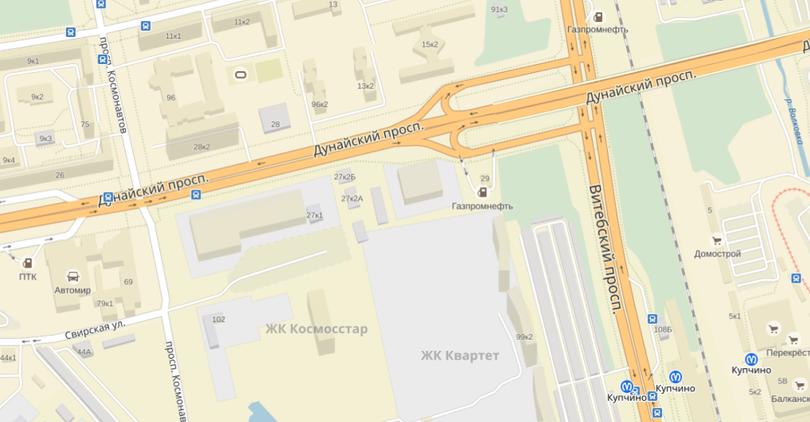 На Дунайском вместо гаражей построили торговый комплекс