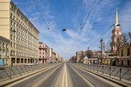 Движение по Лиговскому пр. ограничат из-за дорожных работ