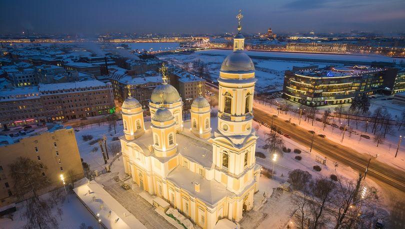 Вид на улицу Сперанского и Князь-Владимирский собор