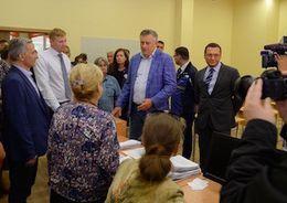Александр Дрозденко в школе