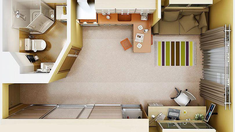 27% предлагаемых на рынке квартир – маленькие студии