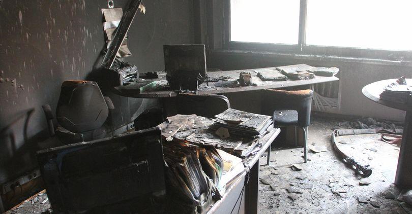 В промзоне горел офис