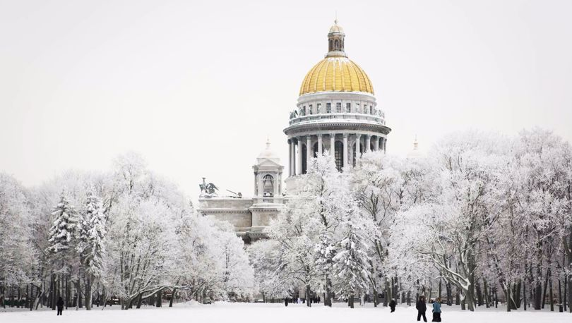 Исаакий в снегу