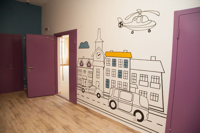 граффити в детском саду