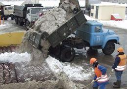 Снегоплавильные пункты переработали за зиму 134,6 тыс. куб. м снега