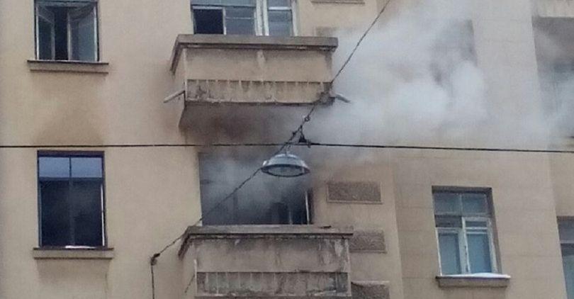 Жильцов дома на 2-й Советской эвакуировали из-за пожара