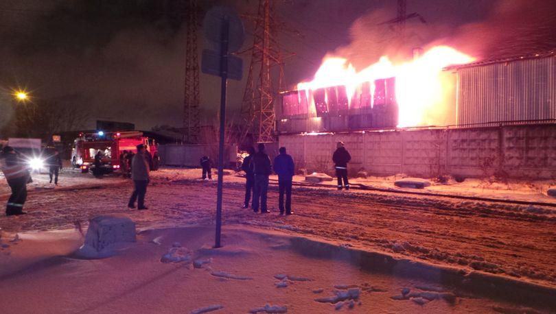 На Бестужевской  горел склад