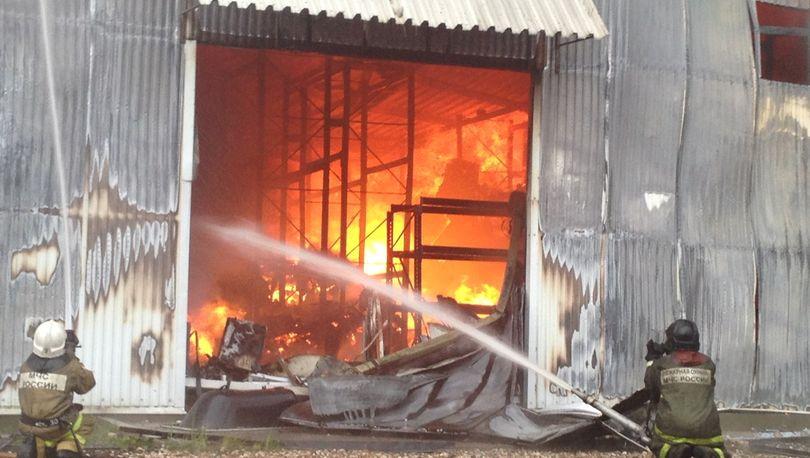 В Пушкине горело производственное здание