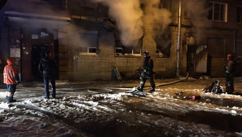 На Ланском сгорел банкетный зал