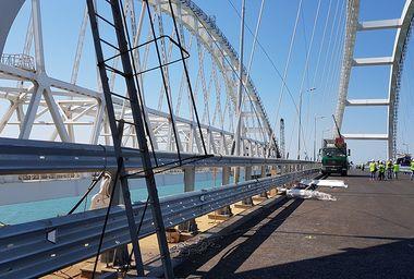 Технический пуск автомобильного движения по Крымскому мосту, 26 апреля 2018 года