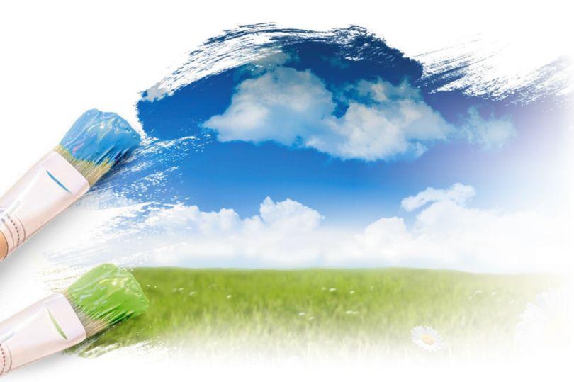 Картинка с зеленью и чистым небом