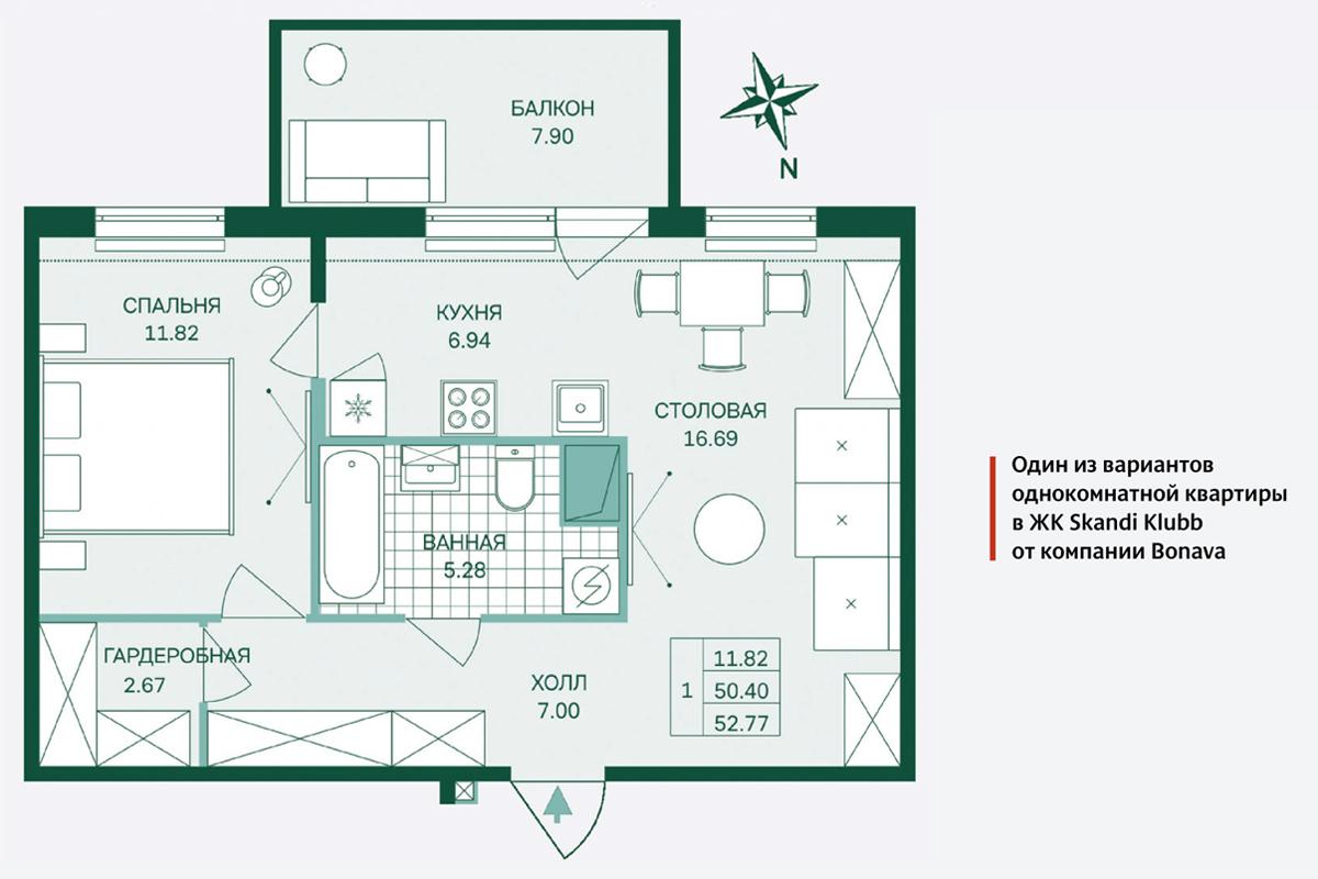e9e7a2548f91b В ЖК Skandi Klubb компании Bonava предусмотрена даже круговая планировка  однокомнатной квартиры. «Это дает возможность применения нестандартных  дизайнерских ...